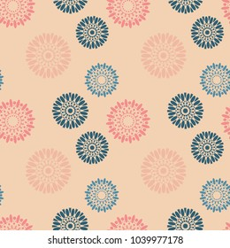Universal flowers seamless pattern. Suitable for screen, print and other media.