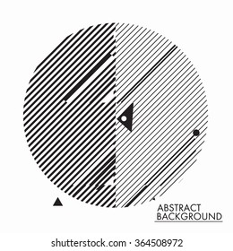 Universal geometry background in minimal, primitive style. Simple shapes for your design, typographic cover, advertisement, printing, poster and web