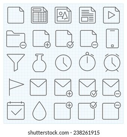 Universal GUI vector icons set for web design and applications