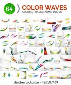 Universal huge mega set of abstract backgrounds, waves, lines
