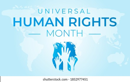 Universal Human Rights Month Red Background Illustration