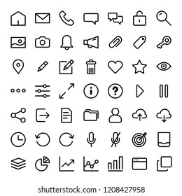 Universal icons for mobile app