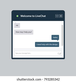 The universal live chat window for web