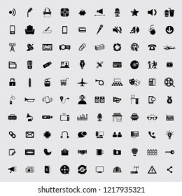 Universal Mix Icon Set of 100 Quality icons. Very Useful For Web & Mobile App.