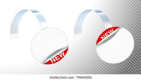 Universal mockup of plastic wobblers. Vector illustration on transparent background, ready and simple to use for your design. The mock-up will make the presentation look as realistic as possible.