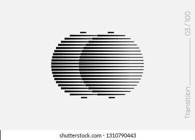 Universal Modern Halftone Geometric Shape. Vector Classical Design Element. Template for Business Poster Logo Clothes. Halftone Transition effect
