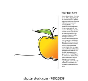 universal page layout with apple icon, freehand drawing vector