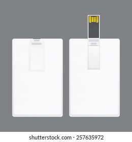 universal serial bus card template for branding item