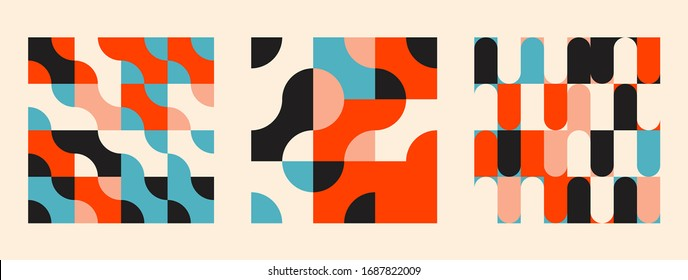 Universal shapes set for graphic design. Vector unique Abstract elements perfect suit for Branding, Bold advertisement, Sale posters, Background or Branding - Shutterstock ID 1687822009