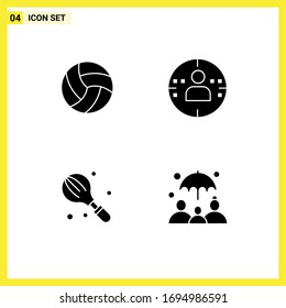 Universal Solid Glyphs Set for Web and Mobile Applications ball; household; sport; marketing; mixer Editable Vector Design Elements