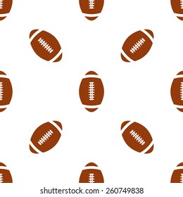 Universal vector american football seamless patterns tiling. Sport theme with balls. Endless texture can be used for wrapper, cover, package, pattern fills, surface textures.