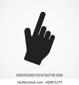 The universal vector icon on the advertising theme: Black Mouse Cursor. Modern flat design. For mobile and web design. EPS 10.
