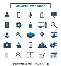 Universal Web Icon Set. Flat style vector EPS.