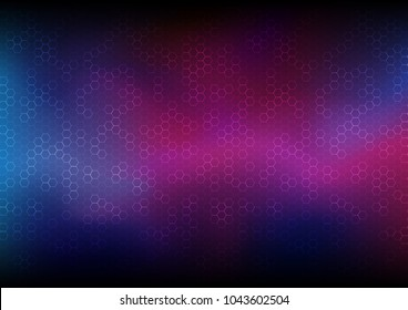 Universe with mixed colors, Technology abstract and astrology concept, Space dimension, Vector illustration background.