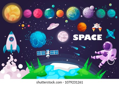 universe. space. space trip. design. vector illustration
