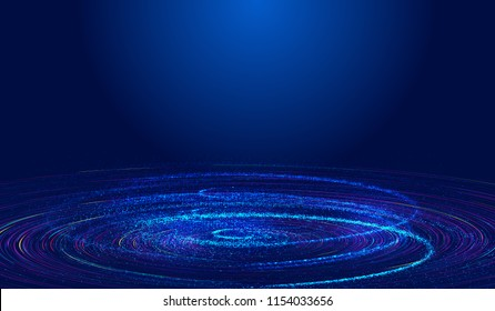 Universe vortex, network technology big data abstract background