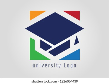 university, academy logo template