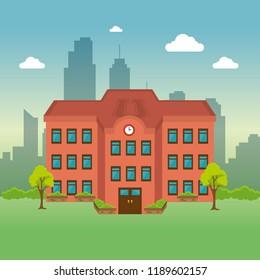 university building facade scene