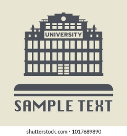 University building icon or sign vector illustration