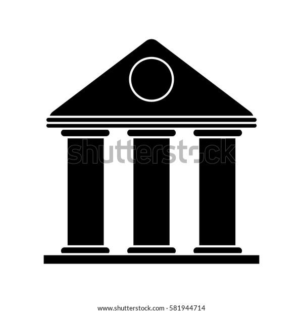 university building style temple pictogram