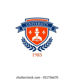 University education logo template