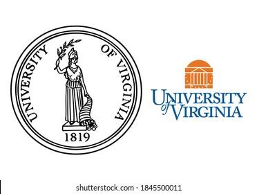 University of Virginia logo, University of Virginia vector logo, vector illustration