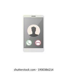 Unknown caller concept. Flat vector illustration. Isolated on white background.