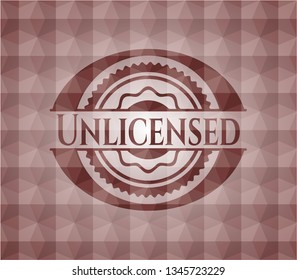 Unlicensed red seamless geometric emblem.