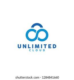 Unlimited Cloud logo design inspiration