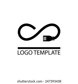 unlimited internet company logo template - provides access to worldwide network access