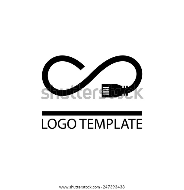 Unlimited Internet Company Logo Template Provides Stock Vector