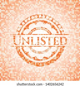 Unlisted abstract orange mosaic emblem