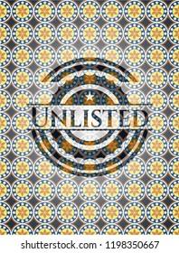 Unlisted arabesque emblem. arabic decoration.