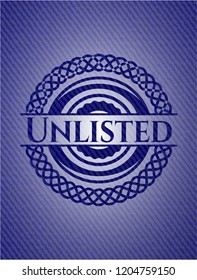 Unlisted badge with jean texture
