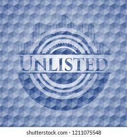Unlisted blue polygonal badge.