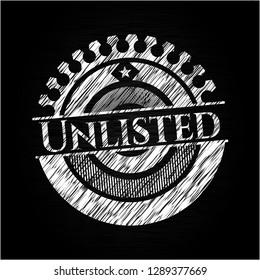 Unlisted chalkboard emblem