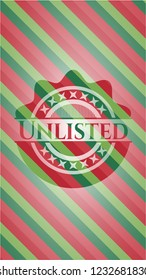 Unlisted christmas badge.