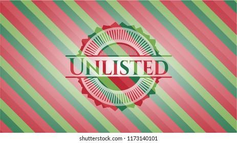 Unlisted christmas badge background.