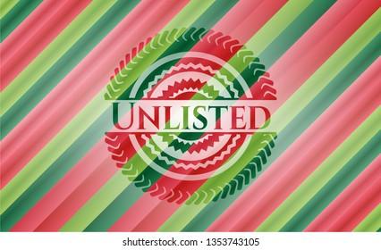 Unlisted christmas emblem background.