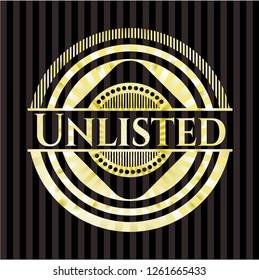 Unlisted gold badge or emblem