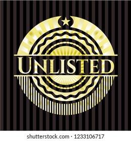 Unlisted gold emblem