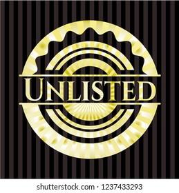 Unlisted gold shiny badge