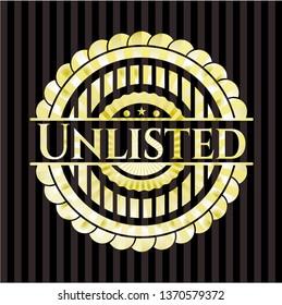 Unlisted golden emblem or badge
