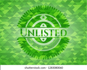 Unlisted green emblem with mosaic background