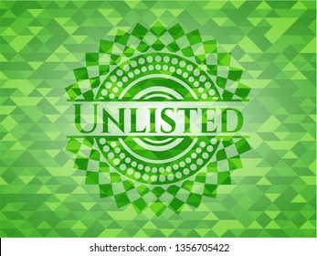 Unlisted green emblem with mosaic ecological style background