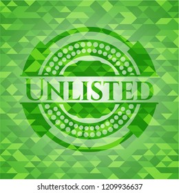 Unlisted green emblem with triangle mosaic background