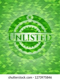 Unlisted green mosaic emblem