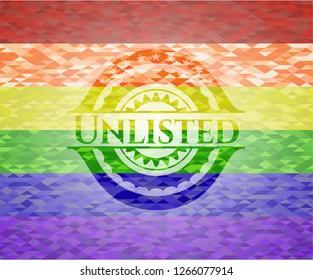Unlisted lgbt colors emblem