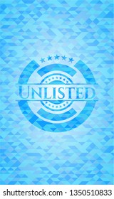 Unlisted light blue mosaic emblem