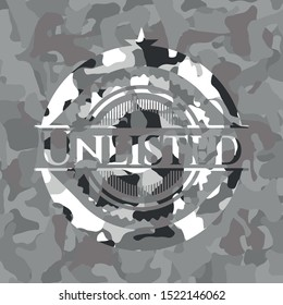 Unlisted on grey camouflage pattern